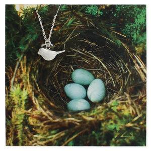 Silver Bird Charm Necklace